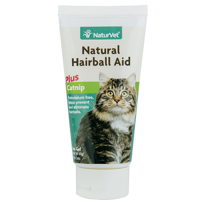 Natural Hairball Aid with Catnip - 3oz Gel