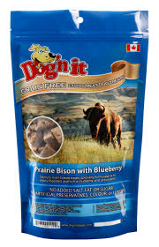 Bison with Blueberries Dog Cookies