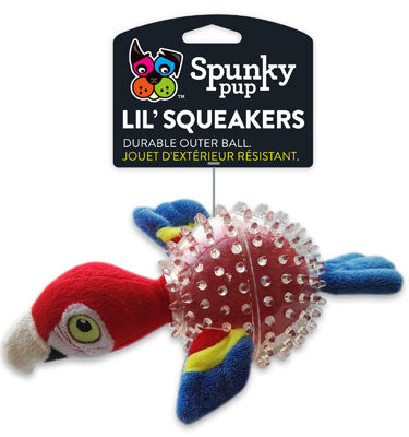 Lil' Squeaker Parrot Dog Toy