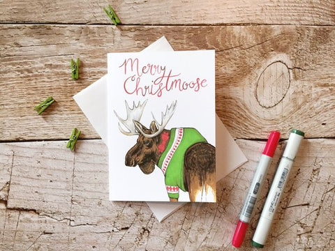 Greeting Card - Merry Christmoose