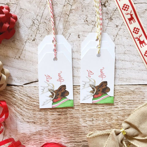 Gift Tags - Merry Christmoose