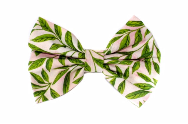 Pink Palm Bow Ties