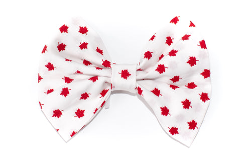 Canada Day Bow Ties - Red on White