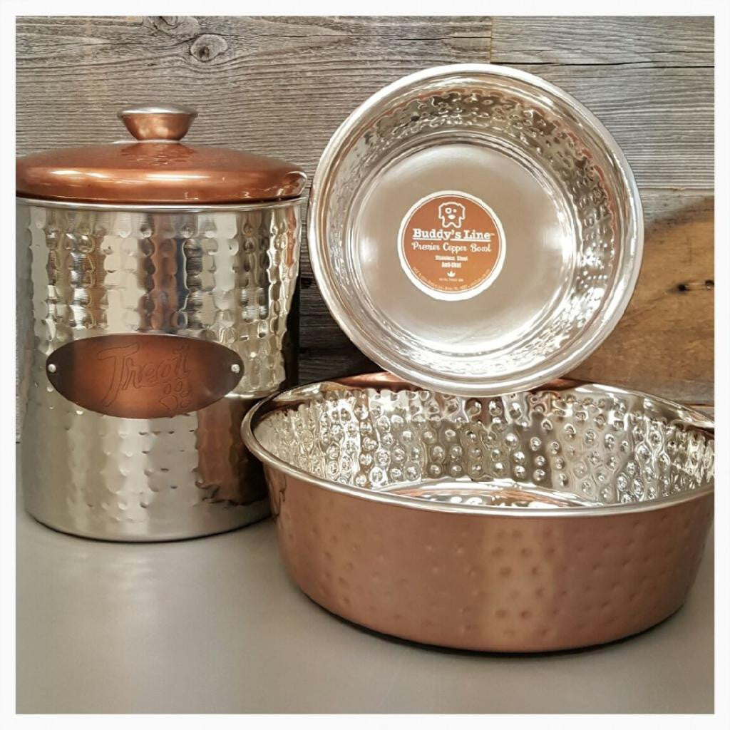Stainless Steel Hammered Copper Treat Can