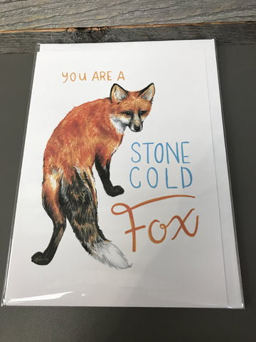 Becky Warren Greeting Card - Stone Cold Fox