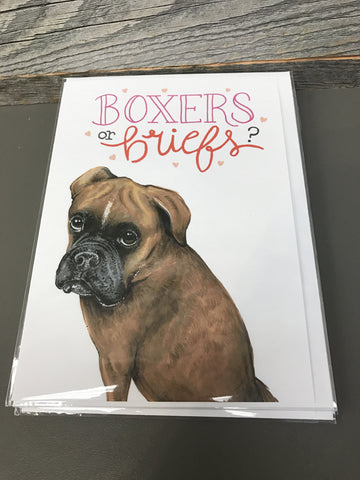 Becky Warren Greeting Card - Boxers or Briefs?