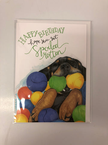 Greeting Card - Spoiled Rotten Birthday