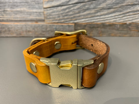 Halfling Quick Release Collar - Yellow & Timer