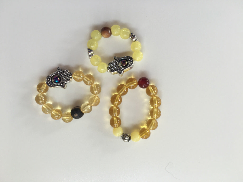 Healing Collar Charms - Amber & Citrine