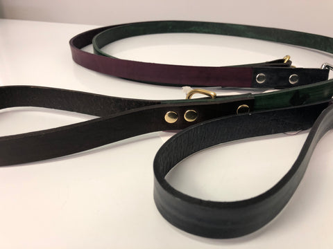 Narrow Leather Leash - Small Clip