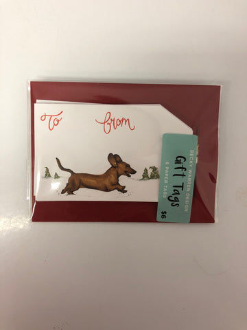 Holiday Gift Tags - Dachshund Through The Snow