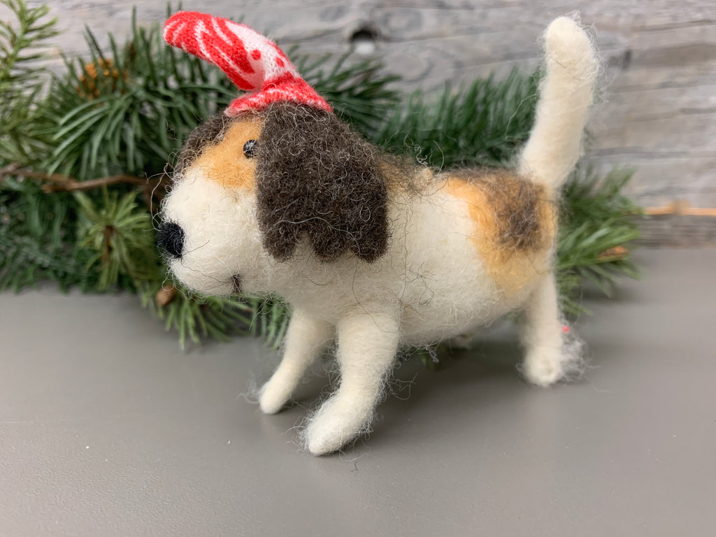 Wool Dog Ornaments