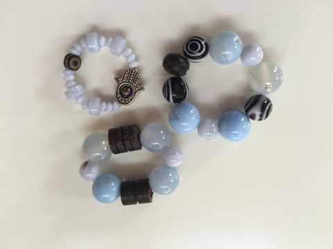 Healing Collar Charms - Blue Lace Agate