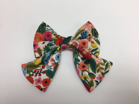 Colourful Floral Sailor Bow Tie