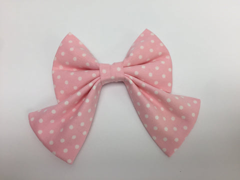 Pink Polka Dot Sailor Bow Tie