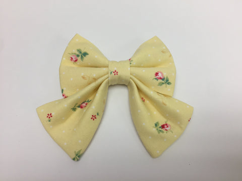 Yellow Floral Sailor Bow Tie
