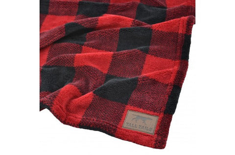 Tall Tails Fleece Blanket - Buffalo Plaid
