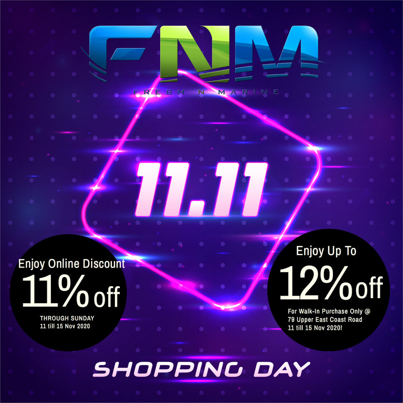 Its 11.11 Sales! Enjoy Auto Discount 11% off on Checkout!