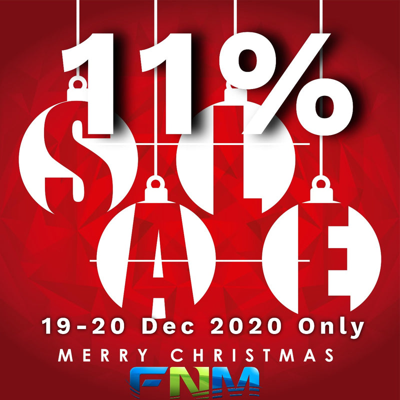 Merry Christmas! Enjoy 11% off SiteWide and Walk-In Now. Ends 20 Dec 2020 2359hrs!