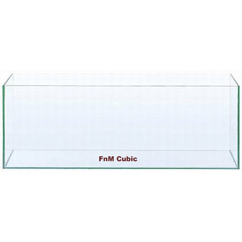 FnM Cubic 120cm x 22cm x 35cm 10mm (front, left & right panel Crystal Glass)