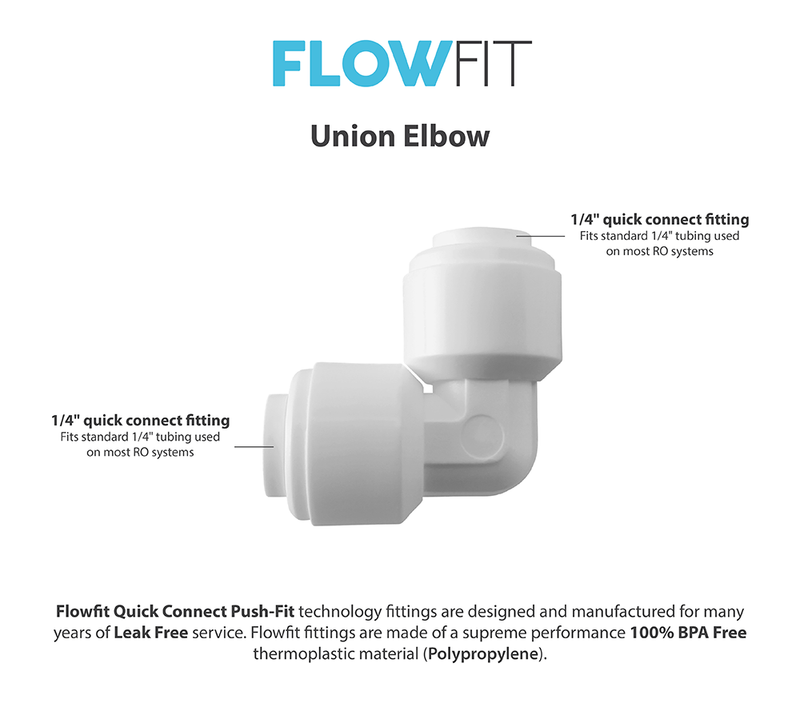 "Express Water 1/4"" Union Elbow Fitting Connection for Water Filters / RO Systems"