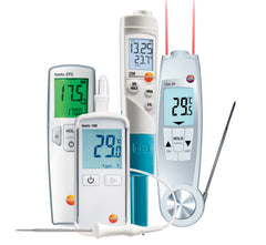 Thermometers, pH and Oil testers