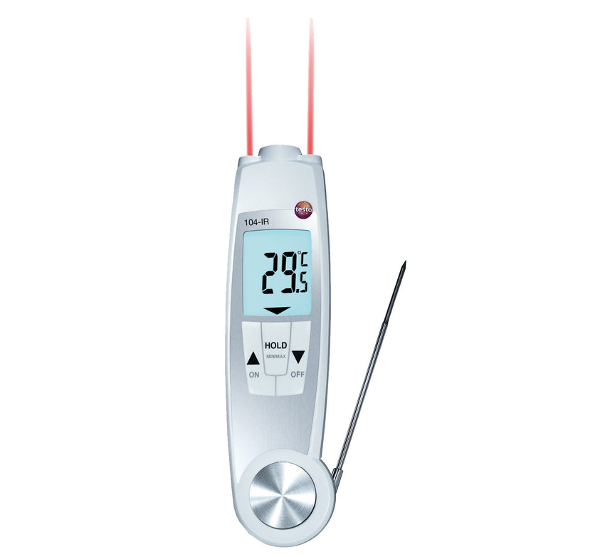 Folding Combo Infrared and Probe Thermometer, Testo 104-IR