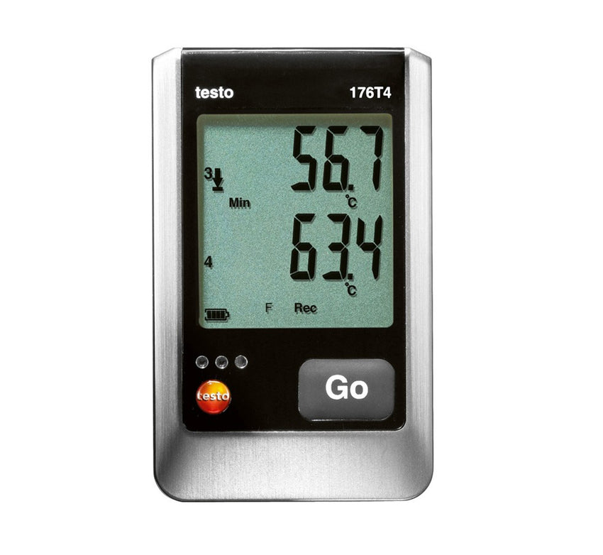 Temperature Data Logger, Four Thermocouple, Testo 176-T4