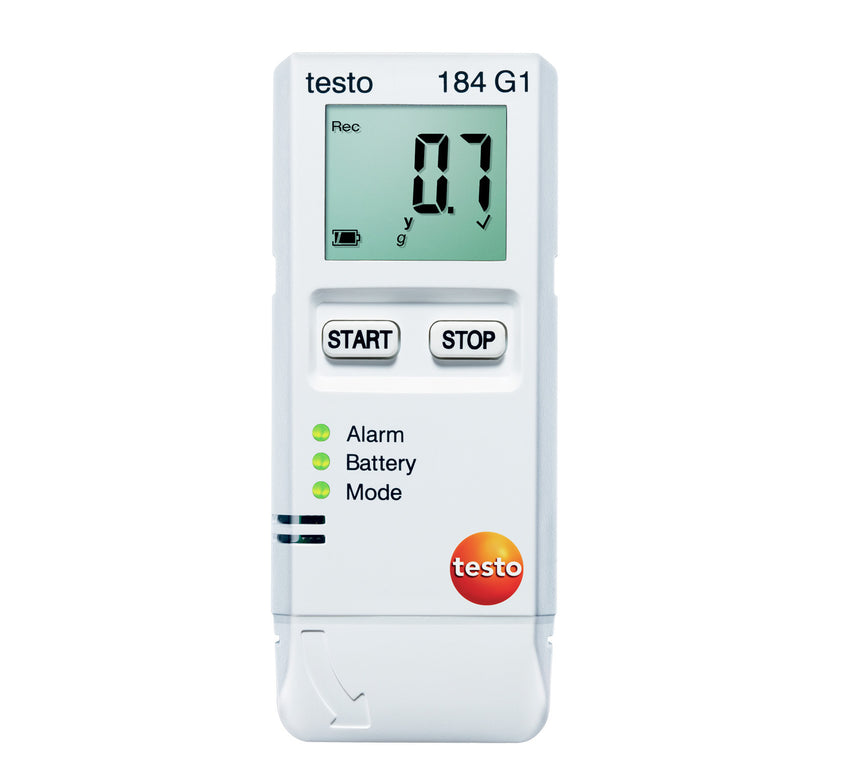 Transport Data Logger, Temperature, Humidity and Shock, Testo 184-G1