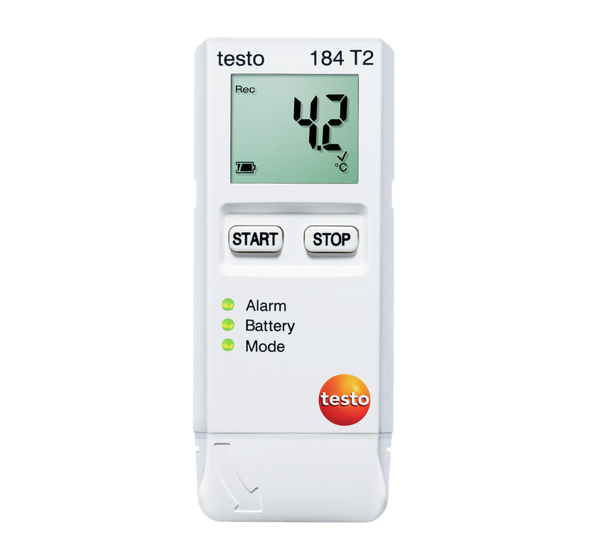 Transport Data Logger with Start/Stop Function, Testo 184-T2