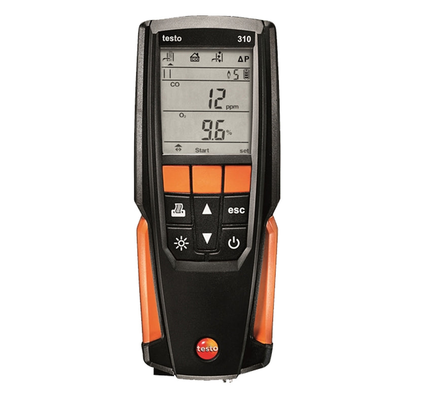 Testo 310 Flue Gas Analyser Set with Printer
