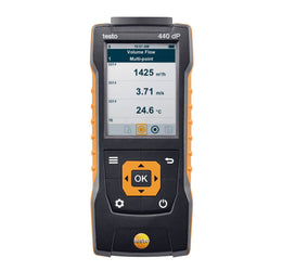 Air Velocity and IAQ Measuring Instrument incl. Differential Pressure Sensor, Testo 440