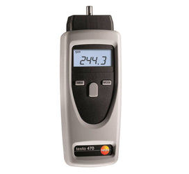 Non-Contact Optical & Mechanical RPM Instrument (Tachometer), Testo 470