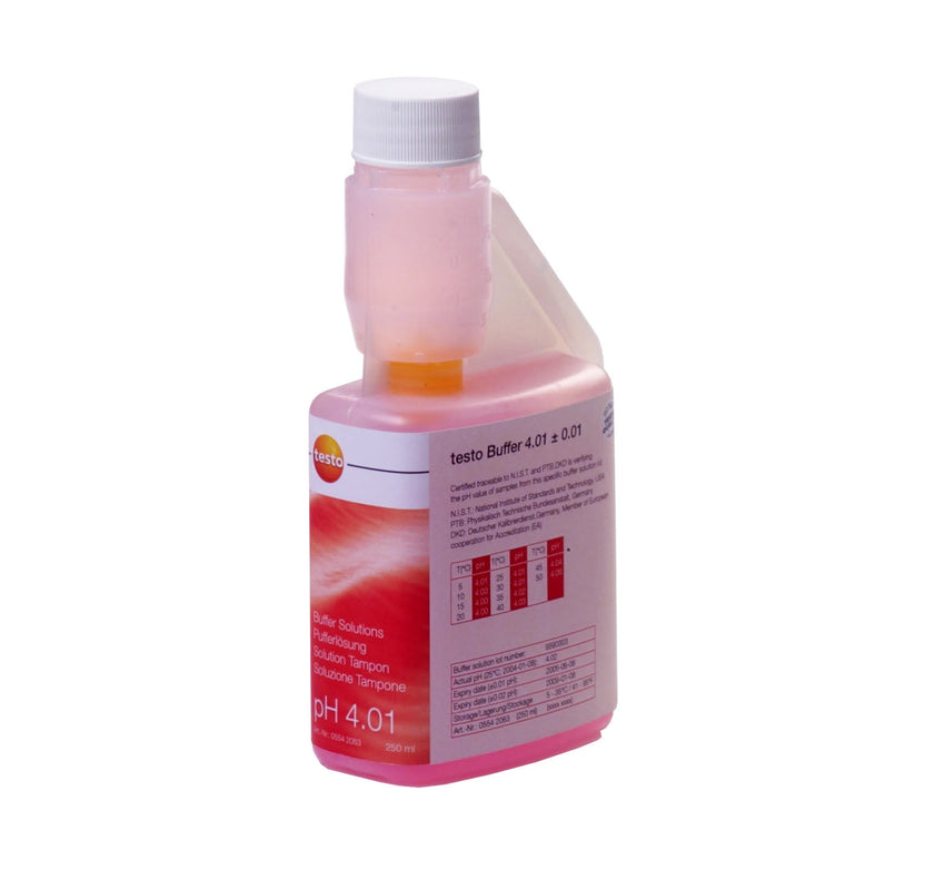 pH Buffer Solution, Testo
