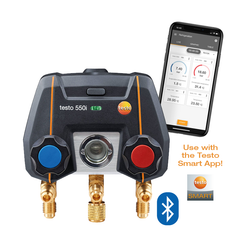 App-controlled digital manifold with bluetooth, Testo 550i
