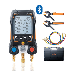Smart Digital Manifold with filling hoses, Testo 550s Smart Kit