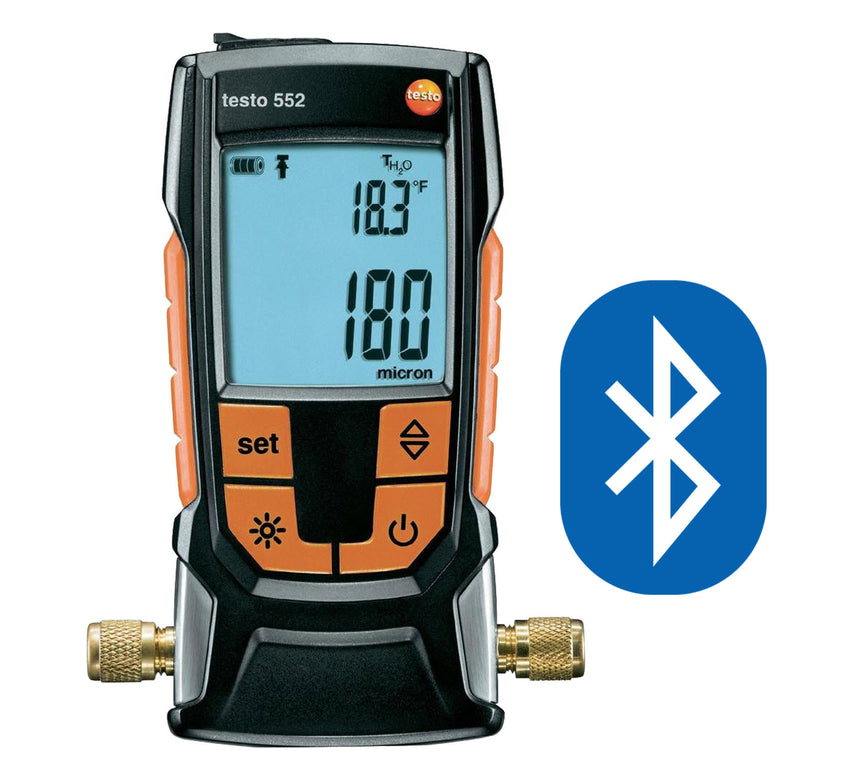 Vacuum Gauge with Bluetooth, Testo 552