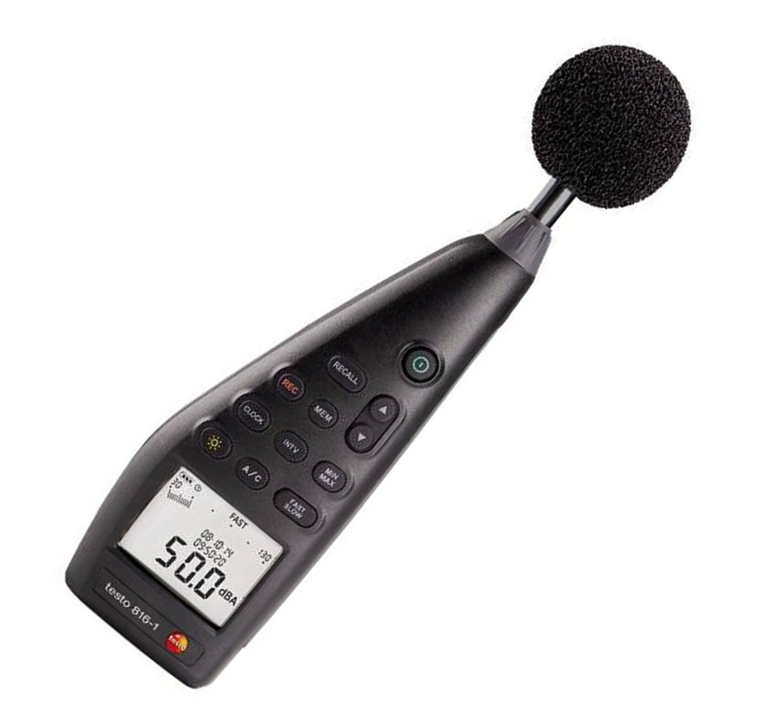 Sound Level Meter with Data Storage & Software, Testo 816-1