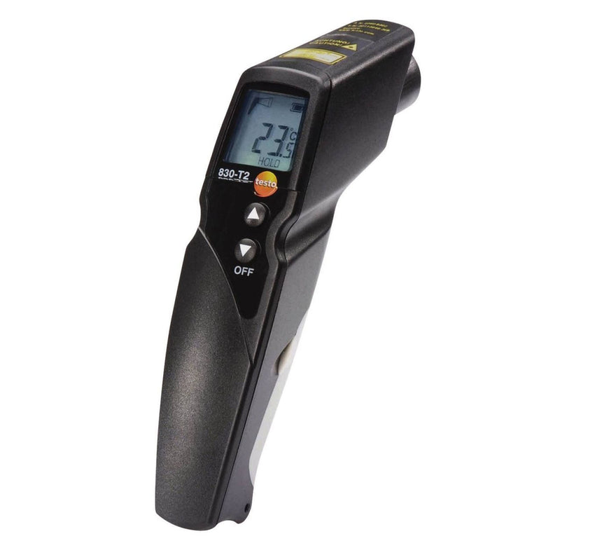 Testo 830-T2 Infrared Thermometer with 2-Point Laser, 12:1 Optics