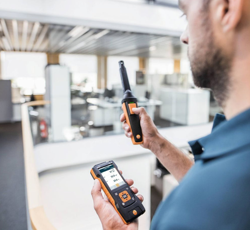 CO₂ probe (digital) with Bluetooth® including temperature and humidity sensor, Testo