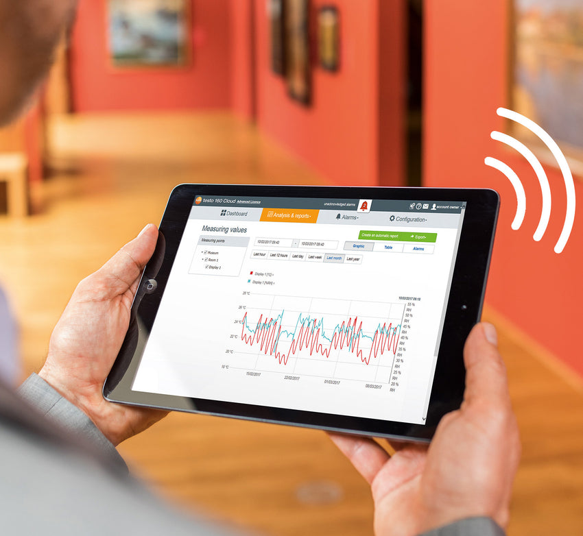 WiFi Data Logger for Temperature and Humidity, Testo 160 TH
