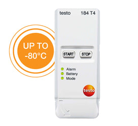 Transport Data Logger, -80°C Start/Stop Temperature, Testo 184-T4