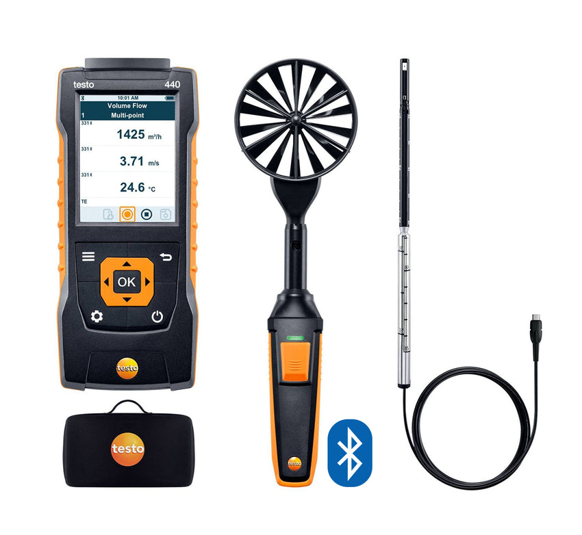 Testo 440 Air Flow ComboKit 1 with Bluetooth®