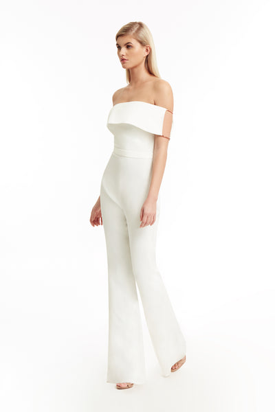 Savannah Jumpsuit in Blanc