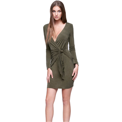 Thebes Dress in Olive