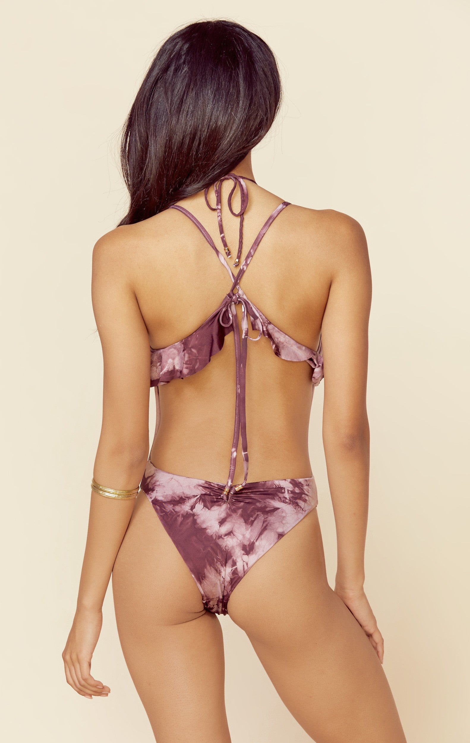 Ruffled Romance One Piece in Passionfruit