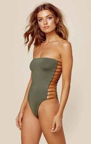 Bamboo One Piece in Fern