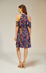 Delta Dress in Blue Floral