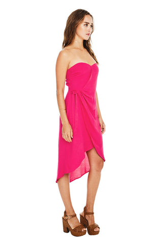 Josefina Dress in Pink Punch