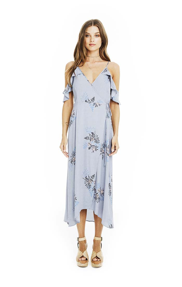 Gwyn Dress in Periwinkle Floral
